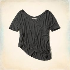 Zuma Beach V Neck T-Shirt; it's as if the half tuck is built into the tee