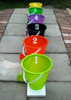 22 Fun Halloween Games, Treats and Ideas for your Halloween Party. any kids party-BOZO buckets! Halloween Carnival Games, Halloween Games For Kids, Fall Halloween, Halloween Parties, Carnival Ideas, Scary Halloween, Halloween Costumes, Kids Carnival, Homemade Halloween