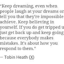 Role Model Quotes Amen Tobin Heath Is A Great Role Model  Inspire  Pinterest .