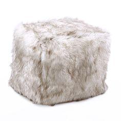 Best Home Fashion, Inc. Faux Fox Pouf Ottoman