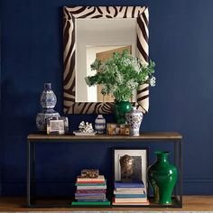 """Fabulous. ON SALE. 38 x 48"""" (Animal prints are considered neutral.)  Zebra Hide Wall Mirror"""