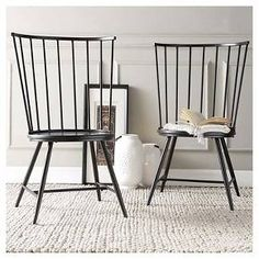 Inspire Q Norfolk High Windsor Dining Chair - Black (Set of 2)