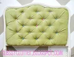 Classy Clutter: DIY Upholstered Tufted Headboard Tutorial