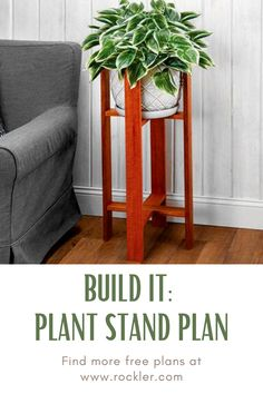 Make this beautiful plant stand and learn how to build using a pocket-hole jig. Cool Woodworking Projects, Diy Woodworking, Weekend Projects, Home Projects, Diy Plant Stand, Plant Stands, Pocket Hole, Craft Show Ideas, Crafts To Sell