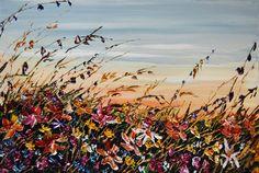 """""""Flower Garden"""" Create Words, Maya, North America, Scene, Landscape, Garden, Artwork, Flowers, Plants"""