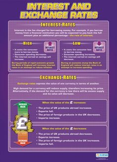 Interest and Exchange Rates Poster