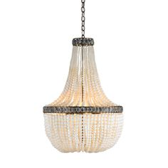 Love. Hedy chandelier by Currey and Company.  Finish: Pyrite Bronze/Cream/Gray