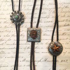 Beautifully hand-engraved bolo ties from Silver King.