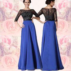 Albastru cu negru, si broderie fir argintiu Satin, Formal Dresses, Fashion, Embroidery, Dresses For Formal, Moda, Formal Gowns, Fashion Styles, Elastic Satin