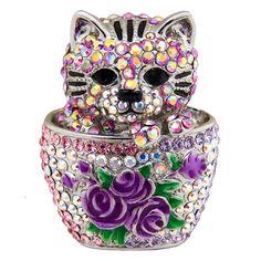 Butler & Wilson Cat Brooch Swarovski crystal