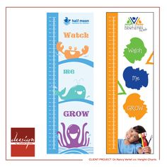Half Moon Dentistry for Children and Maple Ridge Dentistry for Kids Height Charts. Design by Deanna McIsaac. 2016 #dentalmarketing #graphicdesign #marketing #dentist #heightchart #pediatricdentist