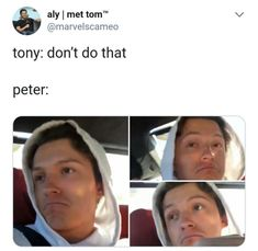 Read Getting Jealous (TH) from the story Peter Parker/Tom Holland Imagines by (QuacksonDolanHoran) with reads. Funny Marvel Memes, Marvel Jokes, Dc Memes, Avengers Memes, Funny Memes, Hilarious, Avengers 2, Marvel Squad, Marvel Dc