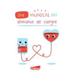 Donar sangre es un acto de amor, puede salvar vidas.  #DíaMundialDelDonanteDeSangre #CalzadoColoso
