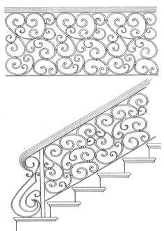 Stair Railing Designs - unique home design railings. Indoor Stair Railing, Wrought Iron Stair Railing, Stair Railing Design, Stair Handrail, Wrought Iron Fences, Staircase Railings, Stair Decor, Cast Iron Railings, Interior Sliding French Doors