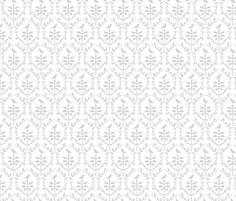 Bird Damask in White/Silver grey fabric by torie_jayne on Spoonflower - custom fabric