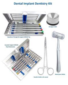 Zahnimplantat SET Osteotomes STR & gewinkelt KONVEX Spitze, Knochen Schläger,