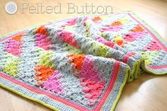 Blanket Crochet Pattern Puzzle Patch Baby Blanket by FeltedButton