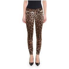 Leopard Print Trousers ($525) ❤ liked on Polyvore featuring pants, leopard pants, dolce gabbana trousers, leopard print pants, dolce gabbana pants and brown pants