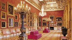 Glittering and gold interiors at Apsley House, London, home of the Iron Duke, victor at Waterloo, Arthur Wellesley, first Duke of Wellington.