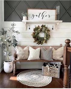 Diy Rustic Decor, Country Modern Decor, Modern Farmhouse Style, Modern Farmhouse Living Room Decor, Rustic House Decor, Farmhouse Chic, American Farmhouse, Rustic Home Interiors, Cottage Farmhouse