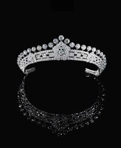 Thanks to Downton Abbey, tiaras are making a comeback in a very big way. Coincidentally, Sotheby's Geneva Magnificent Jewels and Noble Jewels sale will be offering five dazzling tiaras, each made in the distinct style of the respective era they were worn. The most magnificent of these is a stunning diamond tiara made by Cartier in the 1930s from the Estate of Mary, Duchess of Roxburghe – granddaughter of Rothschild heiress Hannah and British Prime Minister the Earl of Rosebery. The tiara, is of