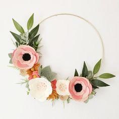 Geweer papier Co geïnspireerd krans  Rosa Floral door alisonmichel