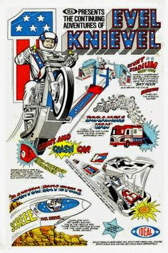 """1971 Evel Knievel 2 Page Article /& Picture /& Original 8.5 x 11/"""""""