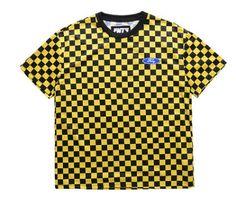 cac10810 Flying Ninety FNTY Checkered Shirt Yellow Bringin it in, retro style! #fnty  #