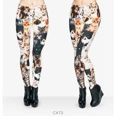 Women's Cat Leggings/One Size