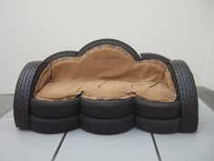 Couch made from tires
