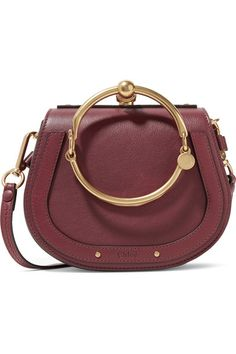 6776a7467218 Chloé - Nile Bracelet Small Leather And Suede Shoulder Bag - Claret