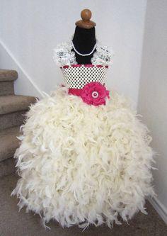 this but in purple or orange I THINK YES   Feather Dress -  Feather Tutu Dress -  Vintage Lace Tutu Dress -  Tutu Dress. $98.95, via Etsy.