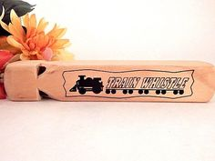 Train Whistle Pine Wood Musical Instrument Childrens Toy Train Sound Prop Wooden Whistle Noise Maker