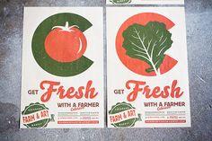 Matte Colorado Farmers Market Poster  Get Fresh With A by austinbuck, $19.00