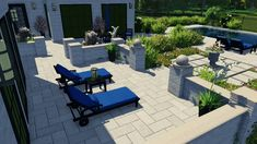 rendered fly over of minimal rectangular pool design. Pool Gazebo, Backyard Pool Landscaping, Backyard Pool Designs, Ponds Backyard, Modern Pool House, Modern Pools, Swimming Pools Backyard, Pool Spa, Country Pool