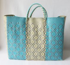 Woven Plastic Tote Bag by Artisans in Mexico by AlegriaHome, $45.00