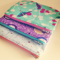 A bit of pouch making going on this afternoon. by kelbysews, via Flickr