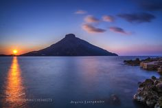 TELENDOS ISLAND-KALYMNOS by geosat  argiris beautiful blue clouds georgantis greece kalymnos light ocean sea sky sun sunset travel water