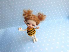 MOHAIR  Perücke WIG für REALPUKI Handgemacht. Real puki mini tiny bjd Puppe doll Fairyland von NiceMiniThings auf Etsy