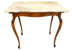 Antique French  Marble-Top Table