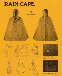Rain Cape: Somehow this just seems so much more epic than wearing a raincoat