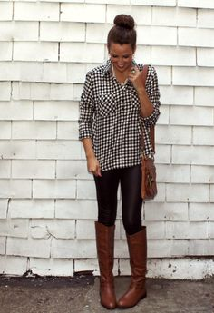 Our Front Face Faux Leather Leggings featured on Lex What Wear