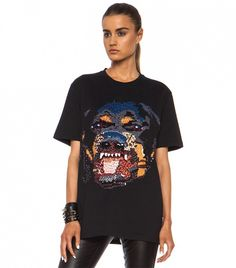 Givenchy Sequin Rottweiler Cotton Tee