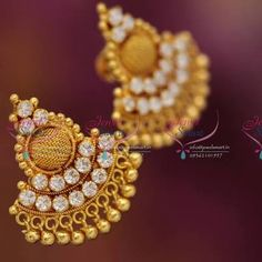 earrings gold for daily wear - Google Search