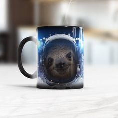 Sloth Astronaut Mug Color changing Mug Funny Gift For Him Animal Slorh in Space Astronomy Funny Cup Birthday Gift Idea for Dad Best Friend Birthday Cup, Birthday Gifts, Cheap Coffee Maker, Funny Gifts For Him, Funny Cups, Animal Mugs, Coffee Barista, Brewing Equipment, Space And Astronomy