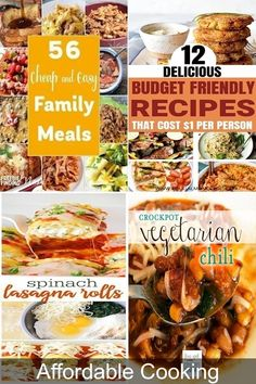 Cheap Dinners For 6 Cheap Easy Healthy Meals, Tasty Meals, Easy Healthy Recipes, Low Budget Meals, Budget Recipes, Cooking On A Budget, Cheap Pasta Recipes, Cheap Casserole Recipes, Spinach Rolls