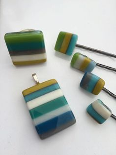 Handmade, fused glass jewelry and hair accessories by Miss Olivia's Line. #MOL Additional items posted at https://www.facebook.com/MissOliviasLine