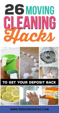 101 Moving Tips and Hacks including 26 Moving Cleaning Hacks