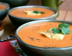 A big bowl of this Creamy Tomato Chipotle Soup makes the perfect dinner for a cold evening. It's easily a meal in itself, but I dare you to serve it next to your favorite grilled cheese sandwich for the ultimate pairing. Big Bowl, Tomato Soup, Chipotle, Soups And Stews, Chowder, Soup Recipes, Good Food, Curry, Tasty