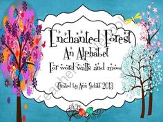 FREEBIE! This is one of the cutest Word Wall Alphabet sets I've seen... with an Enchanted Forest theme...